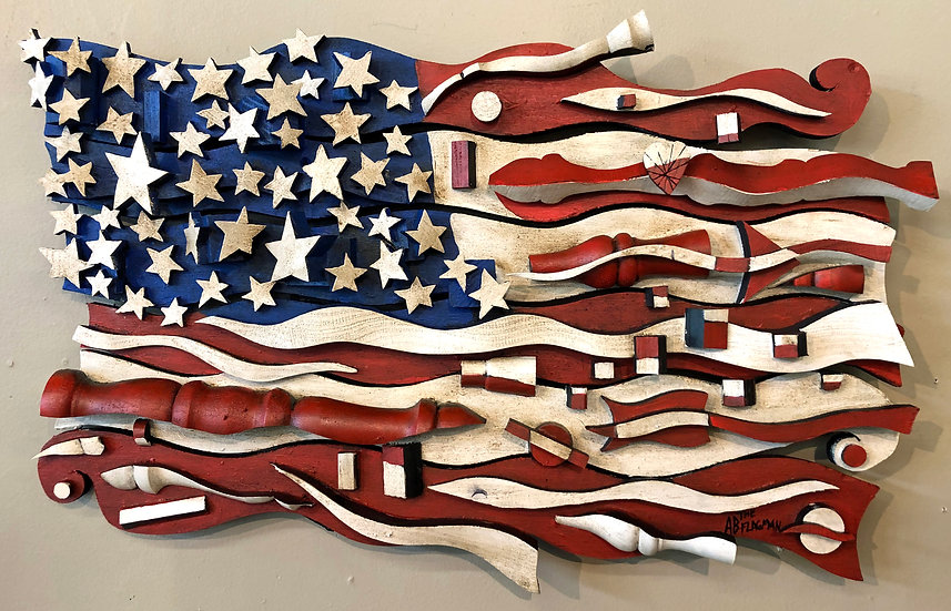 Stained Flag by Ab the Flagman