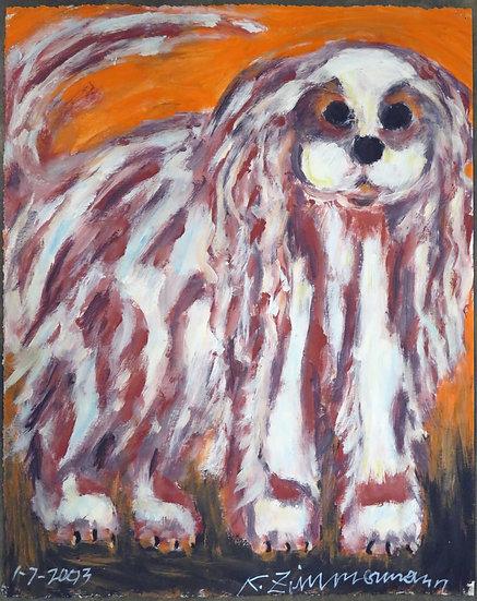 White Dog by Kurt Zimmerman