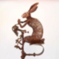 Josh Cote Wire Rabbits Wire Sculpture Art