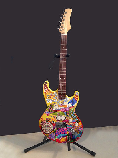 Custom Designed Sgt Pepper Inspired Electric Guitar by Mark Seppala