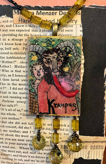 Krampus Necklace by Melissa Menzer