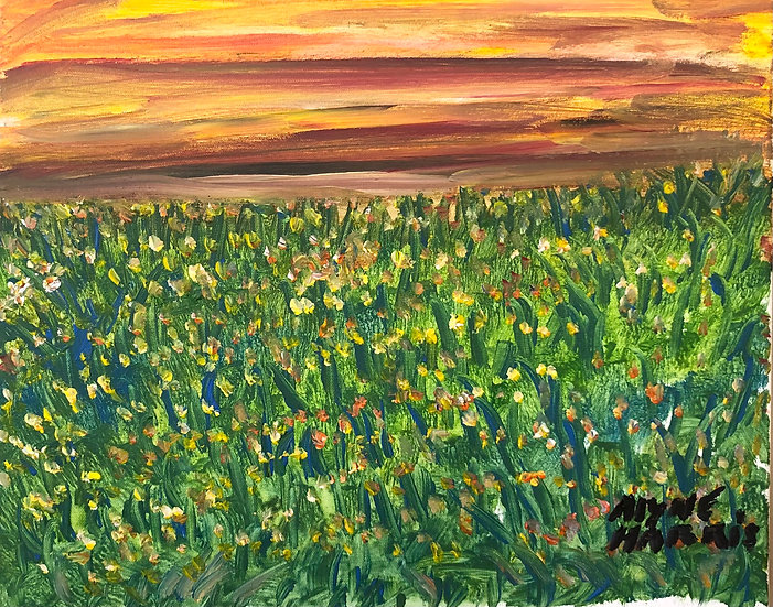 Field at Sunset by Alyne Harris