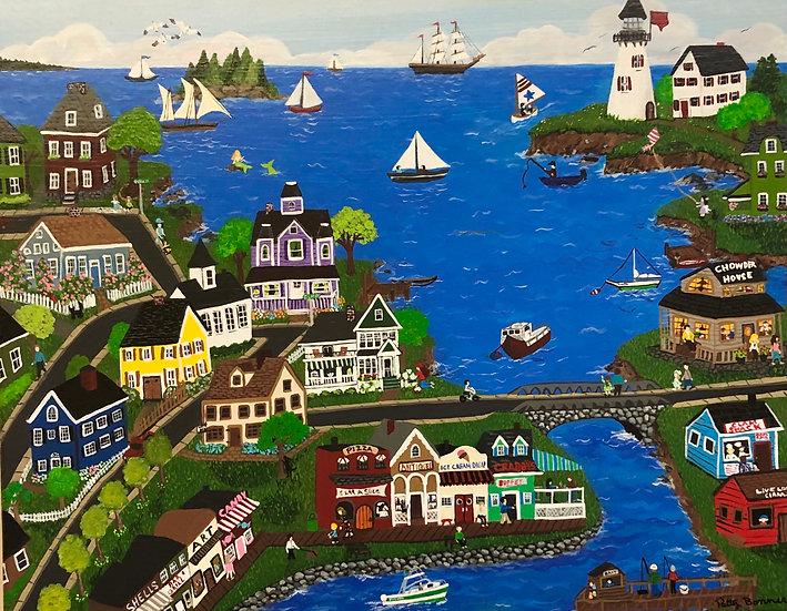 Seaside Town by Patty Bonner