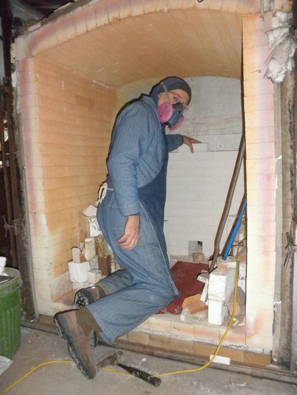 """Fixing the kiln 'cause theres more to it than the """"joy of creating"""""""