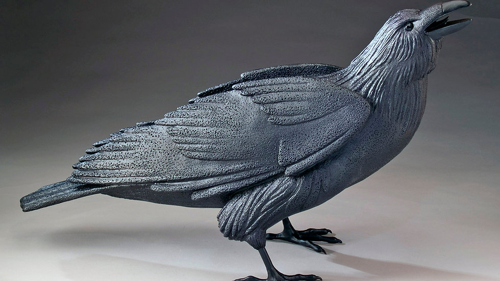 """Brighid"" life sized bronze raven, Inquire with artists for actual price"