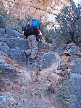 Up the Boucher Trail, below White Butte Saddle, Grand Canyon National Park