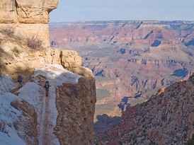 Kiabab Trail near the top, March, Grand Canyon National Park