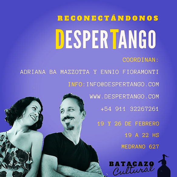 This new DesperTango Event (Seminar) pushes your Tango to the next level. In Buenos Aires.