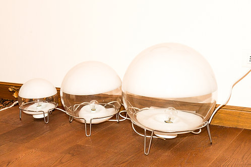 Blown Glass Lamps, 3 sfere - ANGELO MANGIAROTTI