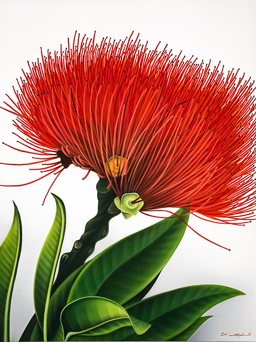 Quadro in tela dipinto a tempera, cm 120 x 90, soggetto floreale