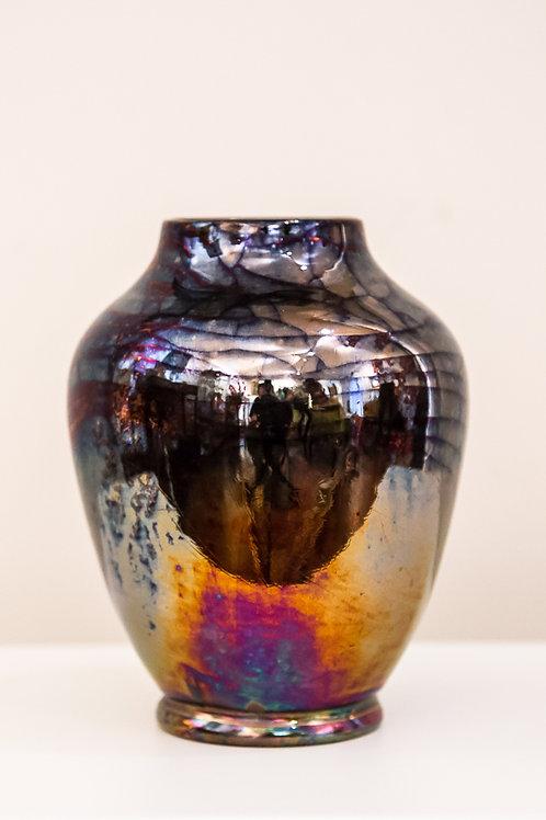 GATTI Faenza - Elegante vasetto in ceramica decorato a lustro