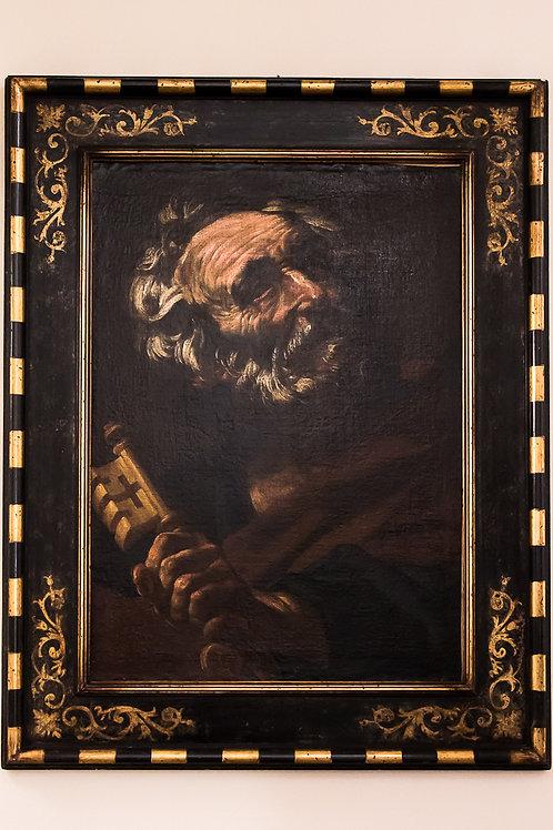 """""""San Pietro"""" - Giacinto BRANDI  (Roma, 1623-1691), Olio su tela cm 69,5 x 50,5"""