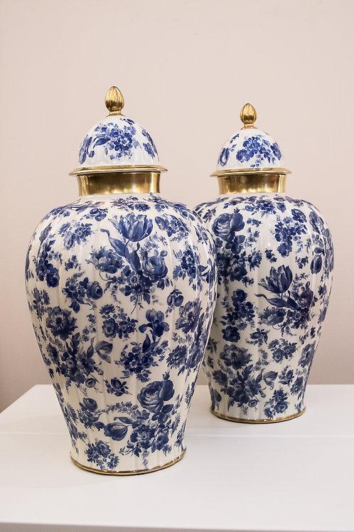 THOMAS IVORY - Bavaria Coppia di grandi vasi potiche in porcellana degli anni'50