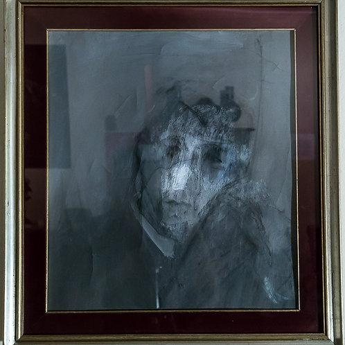 """Viso di uomo"" - OSVALDO PIRACCINI  (Cesena, 1931)"