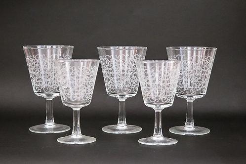 Set di 12 bicchieri di cristallo