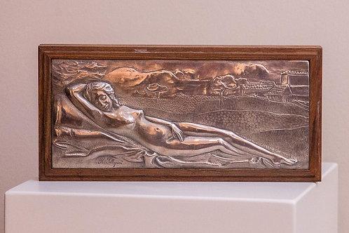 Scatola in legno e argento - R. PELLEGRINI