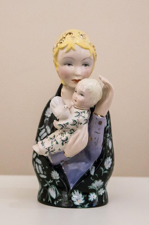 LENCI Ceramica rappresentante Madonna con bambino - COLLEZIONE PRIVATA