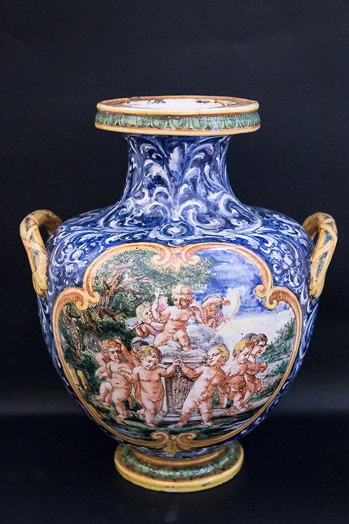 """ANGELO MINGHETTI Vaso in ceramica """"Idria"""" a tre manici"""