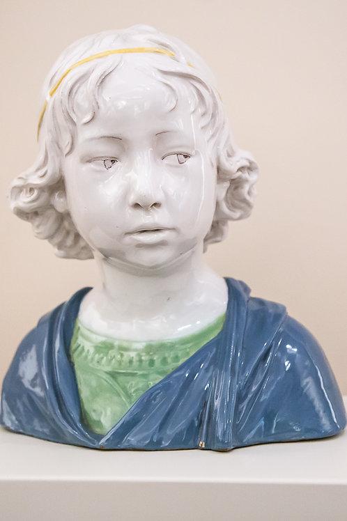 CANTAGALLI Busto di bambino in ceramica - Firenze, anni '50