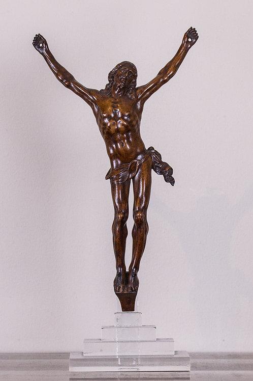 Pregiato Cristo intagliato n legno di bosso del '700