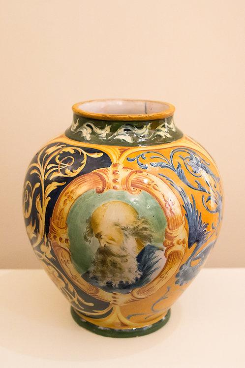 FRATELLI CACCIAPUOTI (Napoli) Vaso in ceramica dipinta firmato