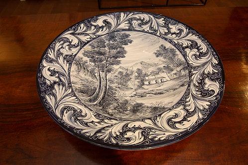 NINO FACCIOLINI (Castelli) Grande piatto ornamentale