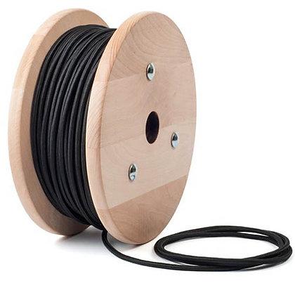 สายไฟผ้าถักสีดำ Text tile Cable Black color เมตรละ