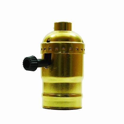 ขั้วหลอดไฟสีทอง วิทเทจ (Golden) มีสวิสต์