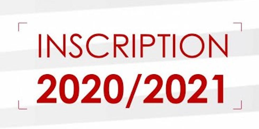 Inscriptions - Saison 2020/2021 - DOJO VALLEE AUX RENARDS