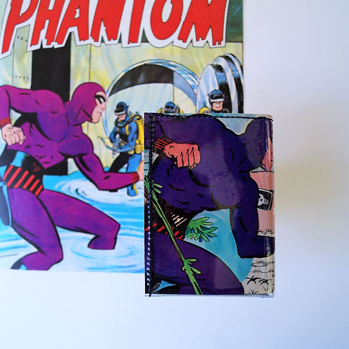 PHANTOM Portemonnaie Comic upcycling Unikat (vorne)
