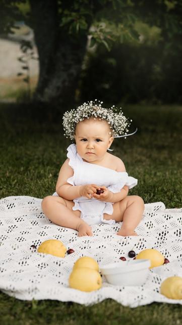 Cake smash Tondheim Babyfotografering 1-års fotografering