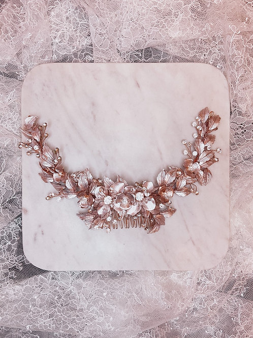 Reign Rose Gold Hairpiece