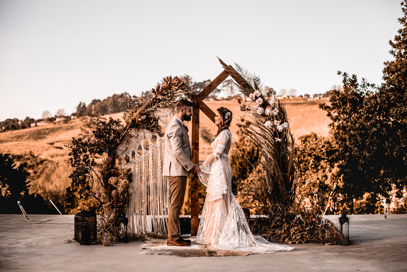Elopement ceremony arch