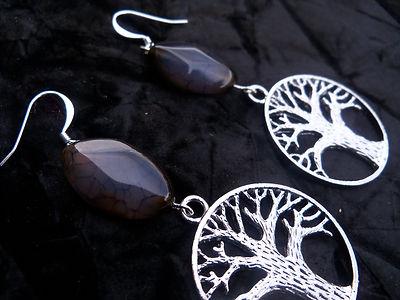 Healing stone jewelry earrings