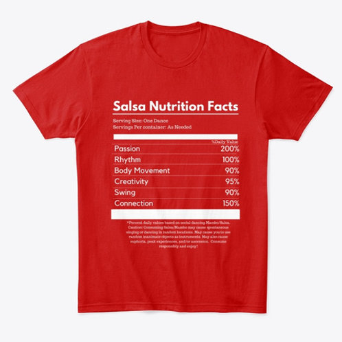 Salsa Nutrition Facts Unisex T-shirt