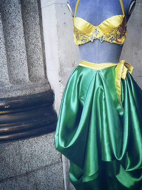 Yellow Costume Bra with Green accents