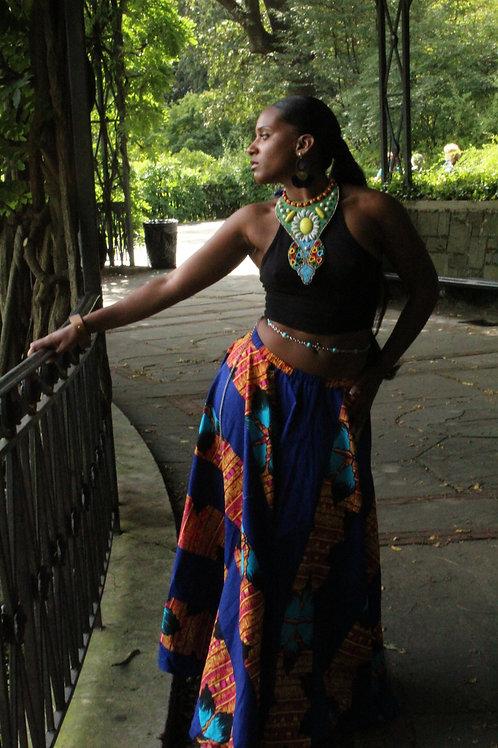 10-Yard African Print Ankara Maxi Skirt