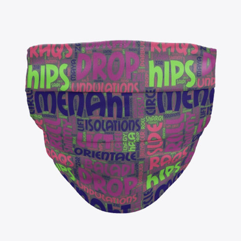 """""""Menaht"""" Fabric Mask multicolor graphic"""