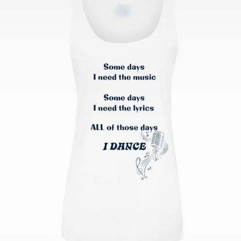 Ladies Music and Lyrics Dance T-shirt  (Tank top)