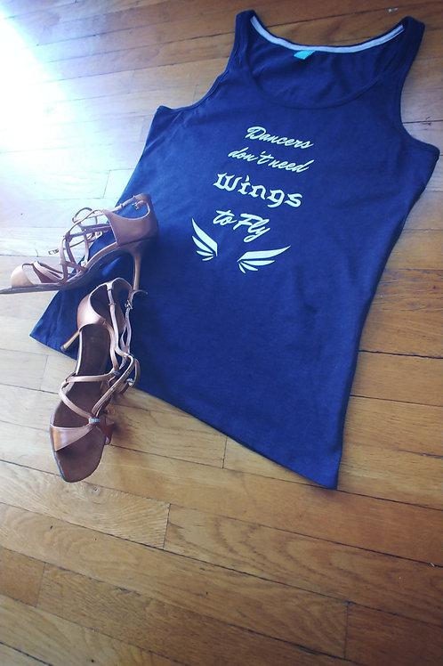 "Dance T-shirt ""Dance Wings"" Grey Tank Top"