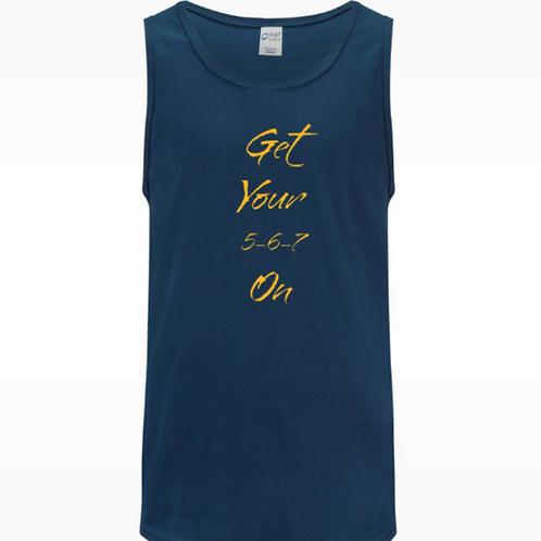 Men's Navy Tank Top (Dance T-shirt) 567