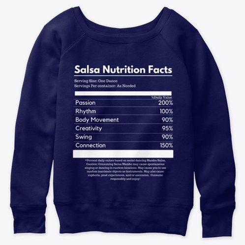 Salsa Nutrition Facts Slouchy Sweatshirt