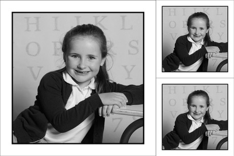 Deuxième pose carrée noir et blanc