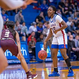 KU vs Texas State Women Basketball