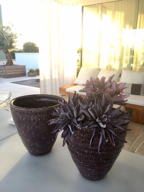Pflanzentopf dunkelviolett