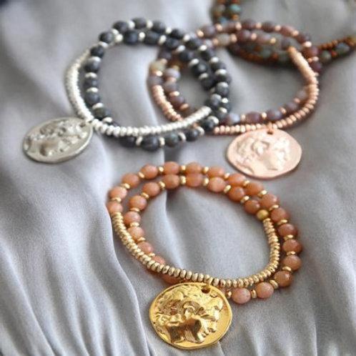 Dion Armband Silber - Labradorit von Style Heaven