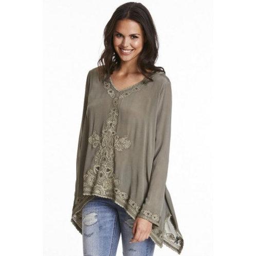 Odd Molly 216T-566 barfeet l/s blouse military