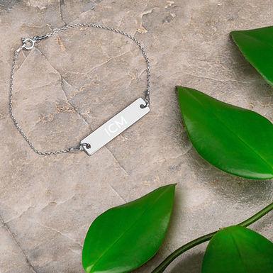 Sterling Silver ICM Engraved Bracelet