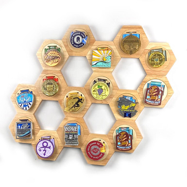 10 Premium Honeycomb Medal Holders