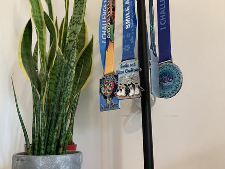 Tabletop Medal Holder Steps